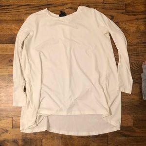 White Long Sleeve Bobeau Tunic